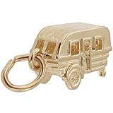 Gold Plated Camping Trailer Charm by Rembrandt Charms