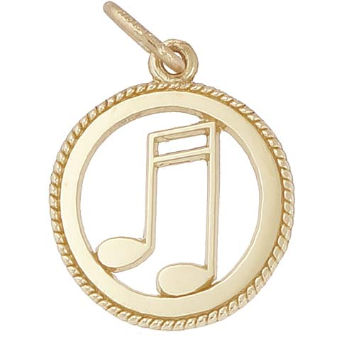 14K Gold Music Note Charm by Rembrandt Charms