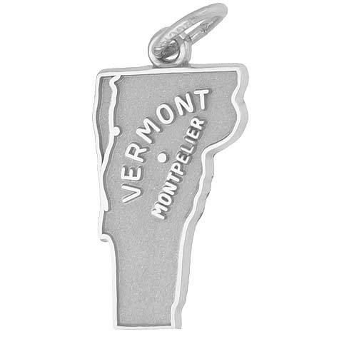 14k White Gold Montpelier, Vermont Charm by Rembrandt Charms