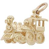 Gold Plate Engine Train Charm by Rembrandt Charms