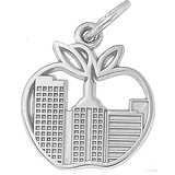 Sterling Silver New York Skyline Charm by Rembrandt Charms
