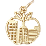 Gold Plated New York Skyline Charm by Rembrandt Charms