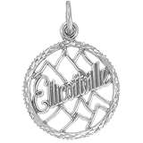 14K White Gold Ellicottville Charm by Rembrandt Charms