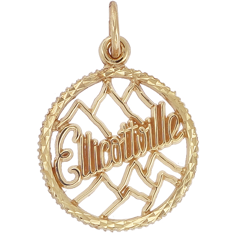 14K Gold Ellicottville Charm by Rembrandt Charms