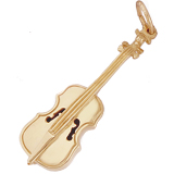 Gold Plated Cello Charm by Rembrandt Charms
