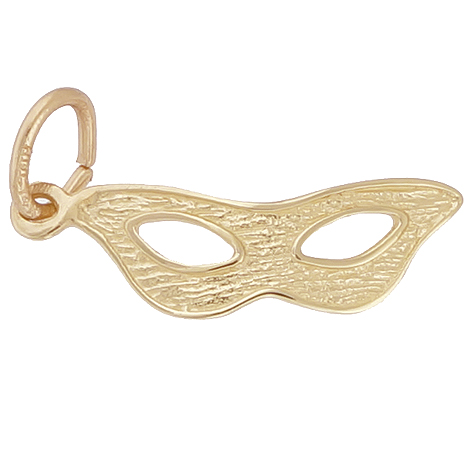 Gold Plate Masquerade Mask Charm by Rembrandt Charms
