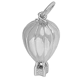 14K White Gold Hot Air Balloon Ride Charm by Rembrandt Charms