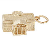 10K Gold United States White House Charm by Rembrandt Charms