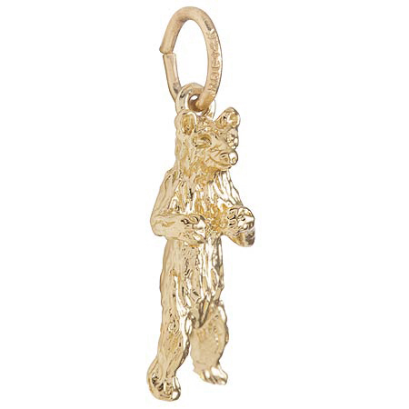 10K Gold Standing Bear Charm by Rembrandt Charms
