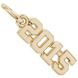 14k Gold Year 2015 Charm by Rembrandt Charms
