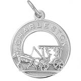 14K White Gold Charleston Carriage Charm by Rembrandt Charms