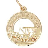 10K Gold Charleston Carriage Charm by Rembrandt Charms