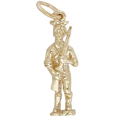 10K Gold Minute Men Charm by Rembrandt Charms