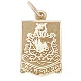 Gold Plated Bermuda Crest Charm by Rembrandt Charms