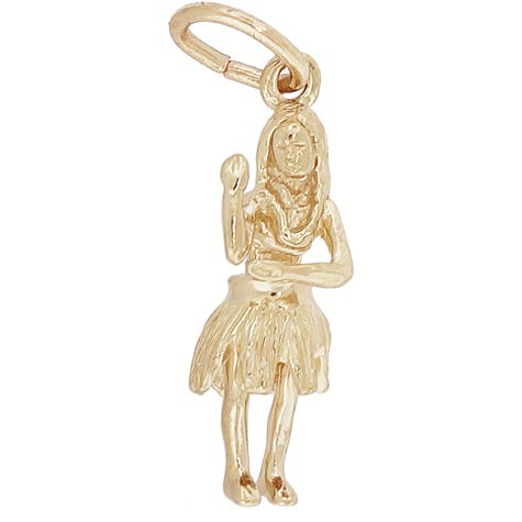 14K Gold Hula Dancer Charm by Rembrandt Charms