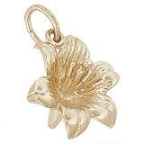 Gold Plated Lilly Charm by Rembrandt Charms