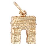 14K Gold L'Arc De Triomphe Charm by Rembrandt Charms