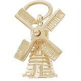 14K Gold Windmill Charm by Rembrandt Charms