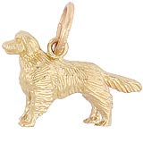 10K Gold Golden Retriever Charm by Rembrandt Charms
