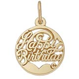 Gold Plated Happy Birthday Charm by Rembrandt Charms