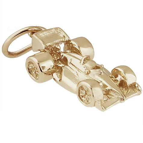 Gold Plated Formula one Race Car Charm by Rembrandt Charms