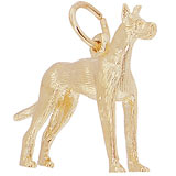 14K Gold Great Dane Dog Charm by Rembrandt Charms