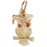 10K Gold Graduation Owl Charm by Rembrandt Charms