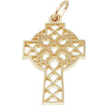 10K Gold Ornate Celtic Cross Charm by Rembrandt Charms