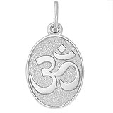 14K White Gold Yoga Symbol Charm by Rembrandt Charms
