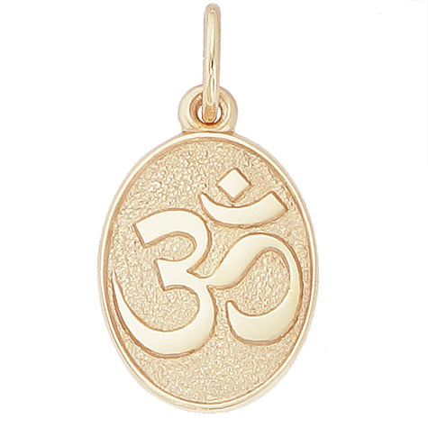 10K Gold Yoga Symbol Charm by Rembrandt Charms