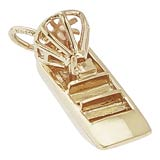 Gold Plate Air Boat Charm by Rembrandt Charms