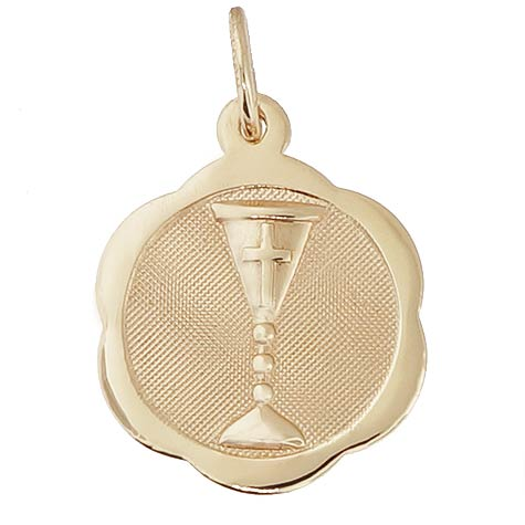 10K Gold Chalice Disc Charm by Rembrandt Charms