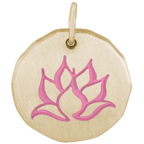 10K Gold Lotus Flower Charm by Rembrandt Charms