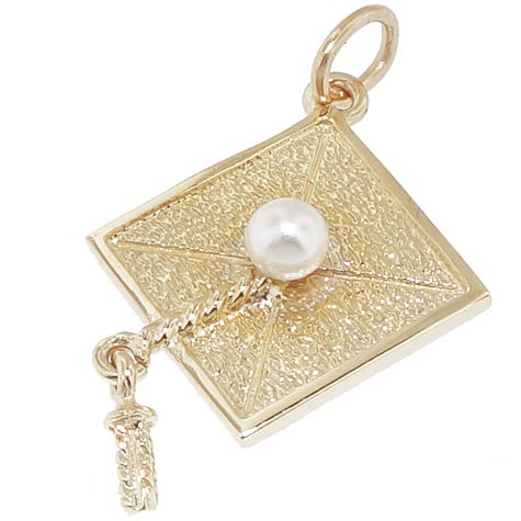 14k Gold Graduation Cap Charm by Rembrandt Charms