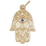 Gold Plate Hamsa Charm by Rembrandt Charms