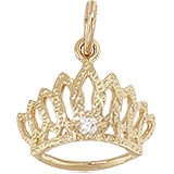 14K Gold April Birthstone Tiara Charm by Rembrandt Charms