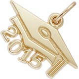 10k Gold Graduation Cap 2015 Charm by Rembrandt Charms