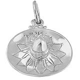 14K White Gold Sombrero Charm by Rembrandt Charms