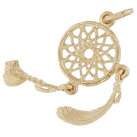 Gold Plated Dream Catcher Charm by Rembrandt Charms