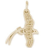 14K Gold Nassau Longtail Charm by Rembrandt Charms