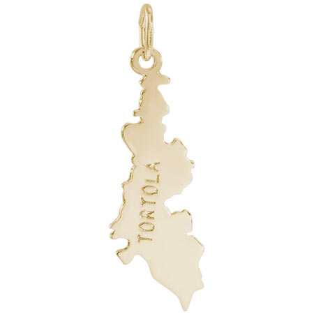 14K Gold Tortola Charm by Rembrandt Charms