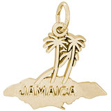 14K Gold Jamaica Island Palms Charm by Rembrandt Charms