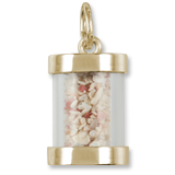 Gold Plate Bermuda Is Sand Capsule Charm by Rembrandt Charms