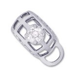 Sterling Silver Caged Stone CharmDrop 04 April by Rembrandt Charms