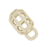 14K Gold Caged CharmDrop by Rembrandt Charms