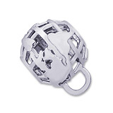 Sterling Silver Globe CharmDrop by Rembrandt Charms