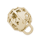 Gold Plate Globe CharmDrop by Rembrandt Charms