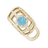 10K Gold Caged Stone CharmDrop 03 Mar by Rembrandt Charms