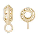 10K Gold Rippled Cage CharmDrop by Rembrandt Charms