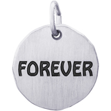 14K White Gold Forever Charm Tag by Rembrandt Charms